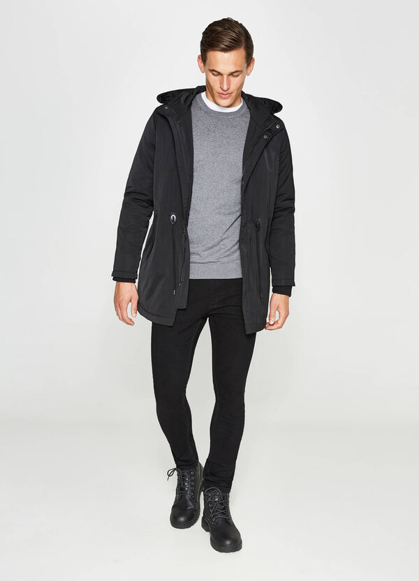 Parka with high neck and hood | OVS