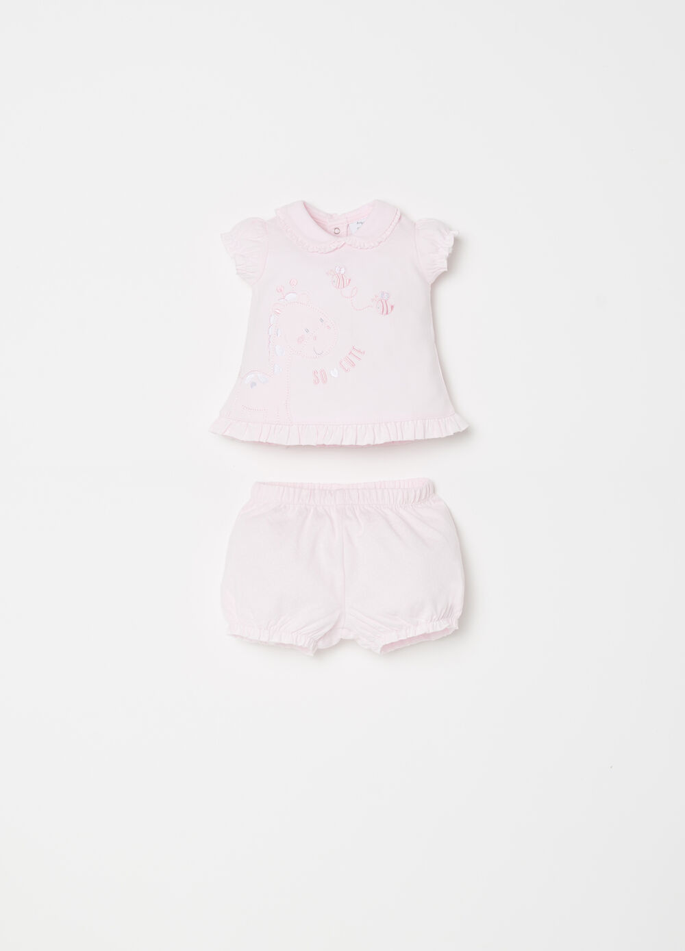 BCI T-shirt and shorts set with frills