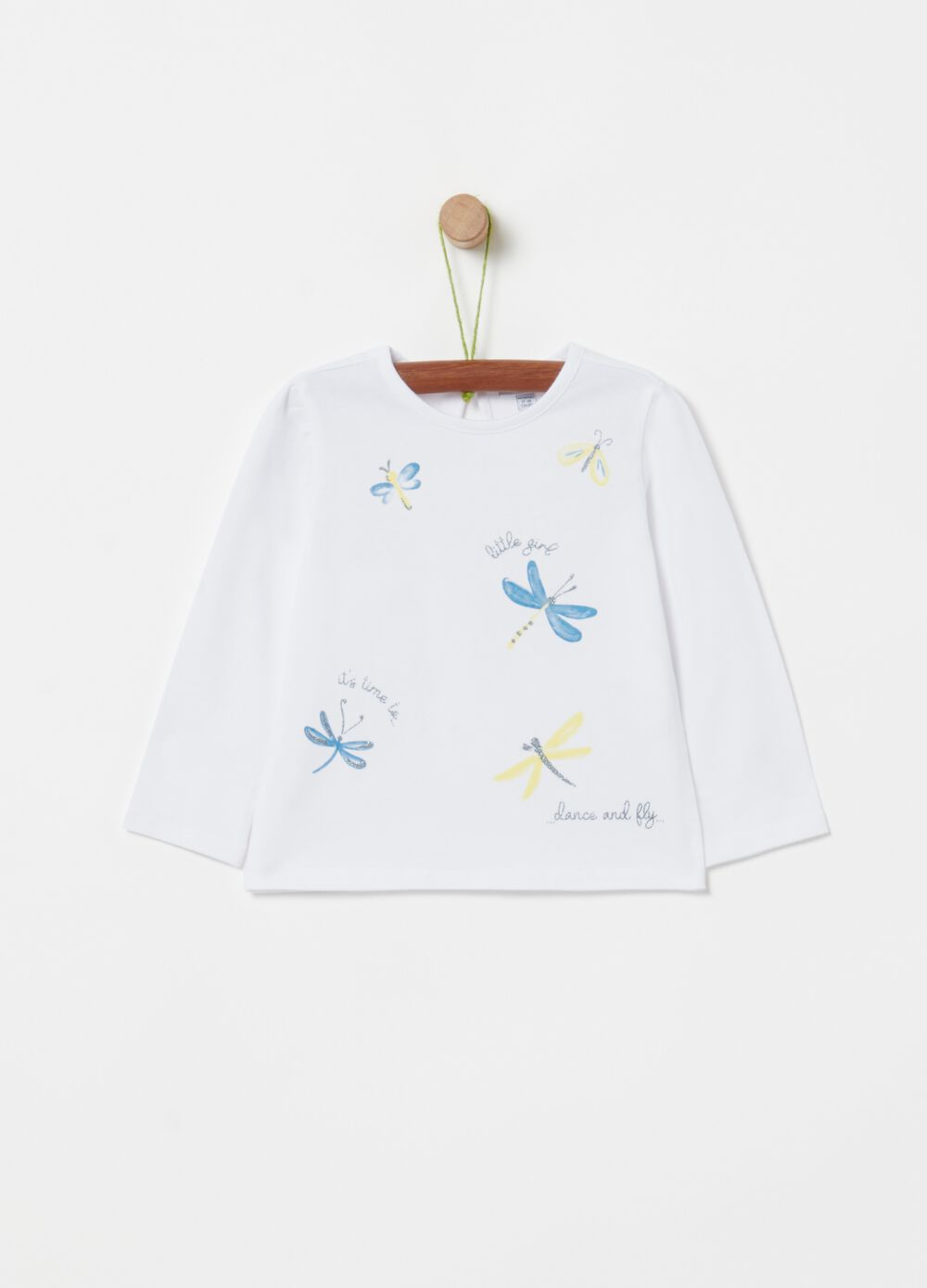 T-shirt with dragonfly print