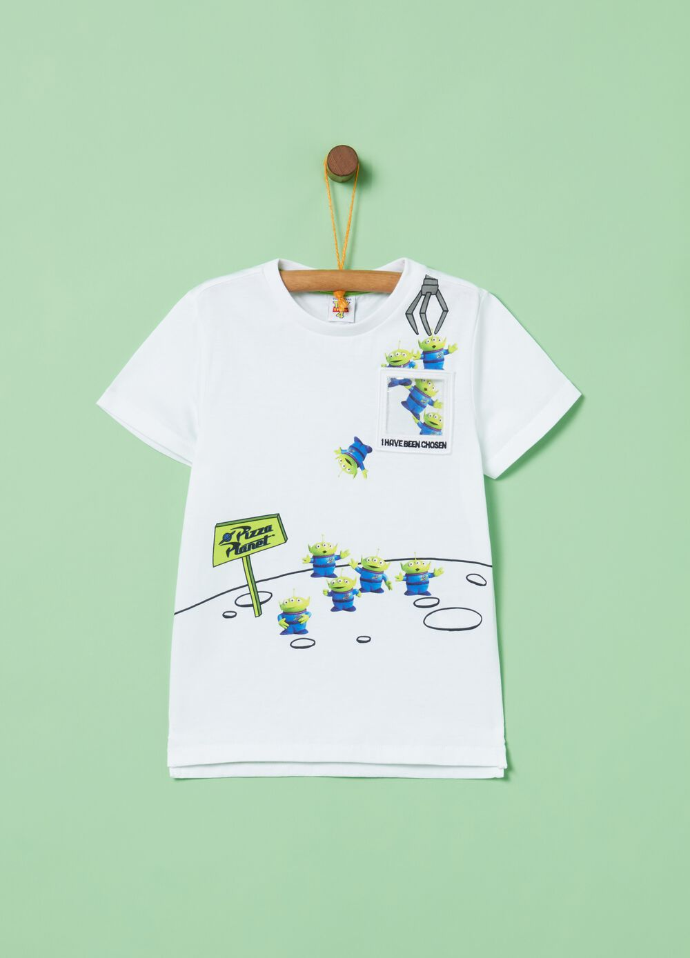 T-shirt puro cotone e tasca stampa Toy Story