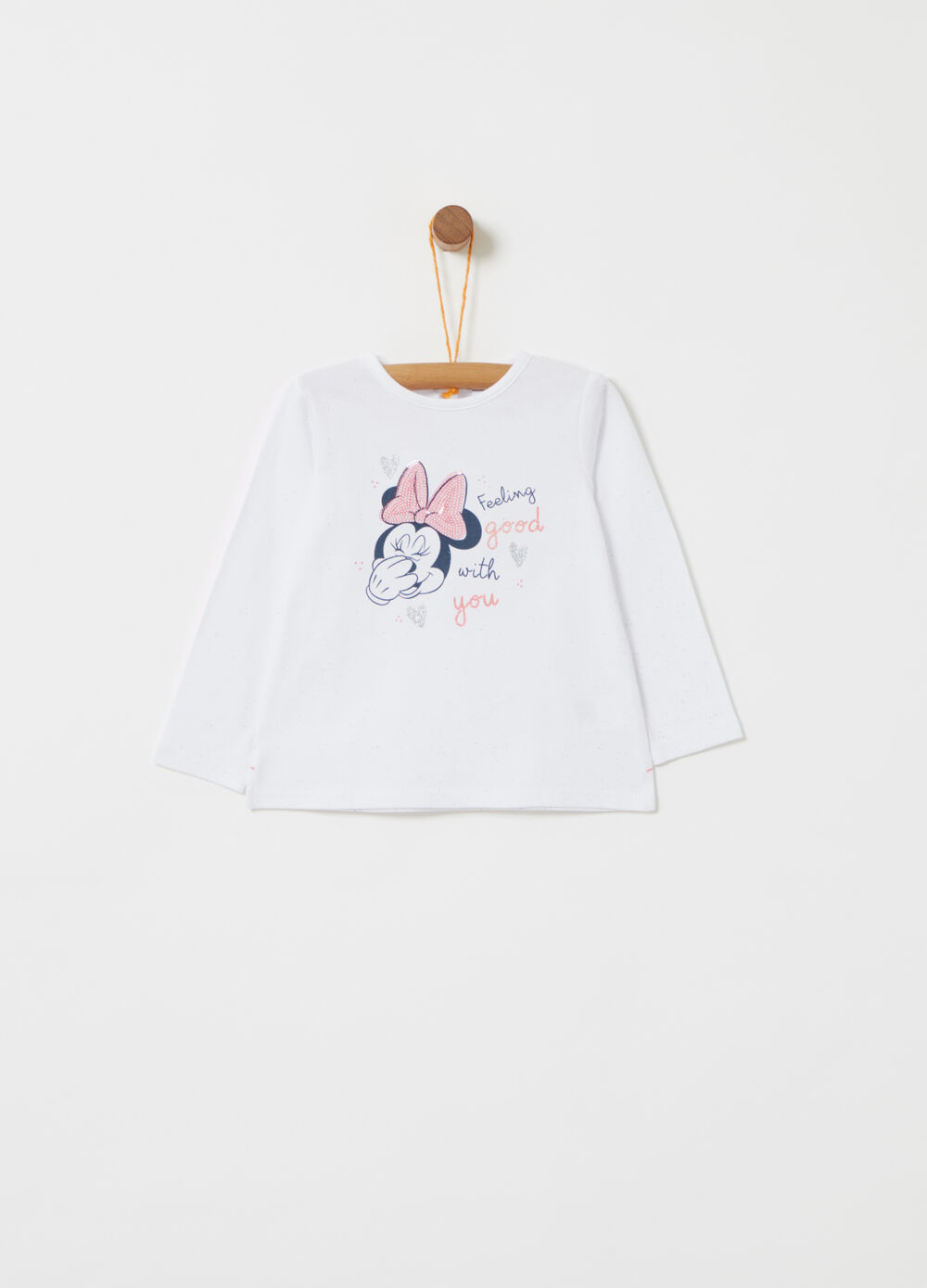 T-shirt Disney Baby Minnie con paillettes