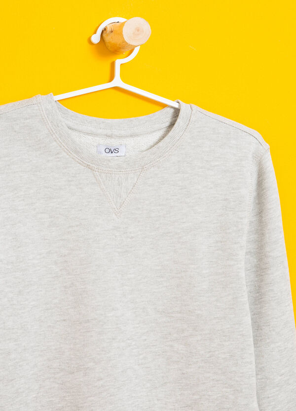 Sweatshirt in cotton and viscose with printed lettering   OVS