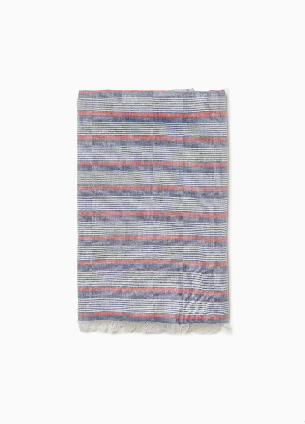 Striped pashmina in 100% cotton jersey