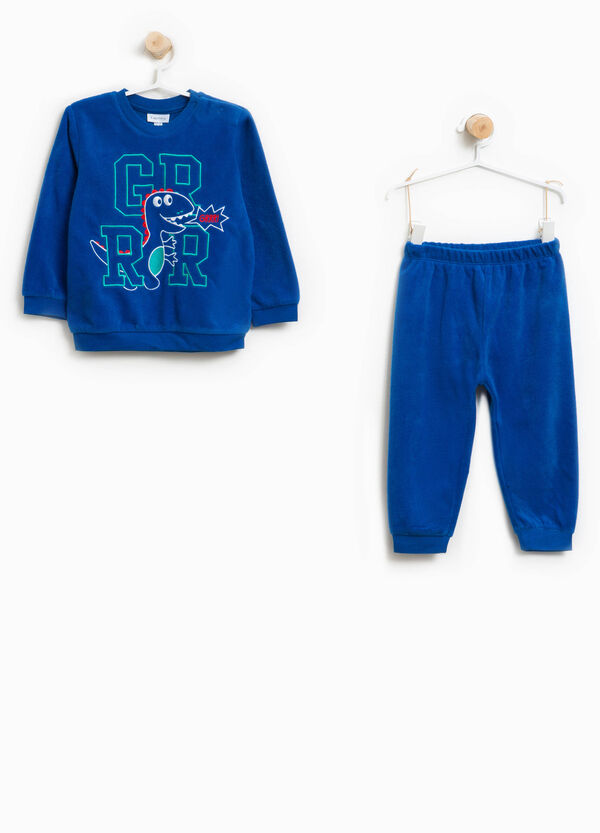 Solid colour pyjamas with embroidery   OVS