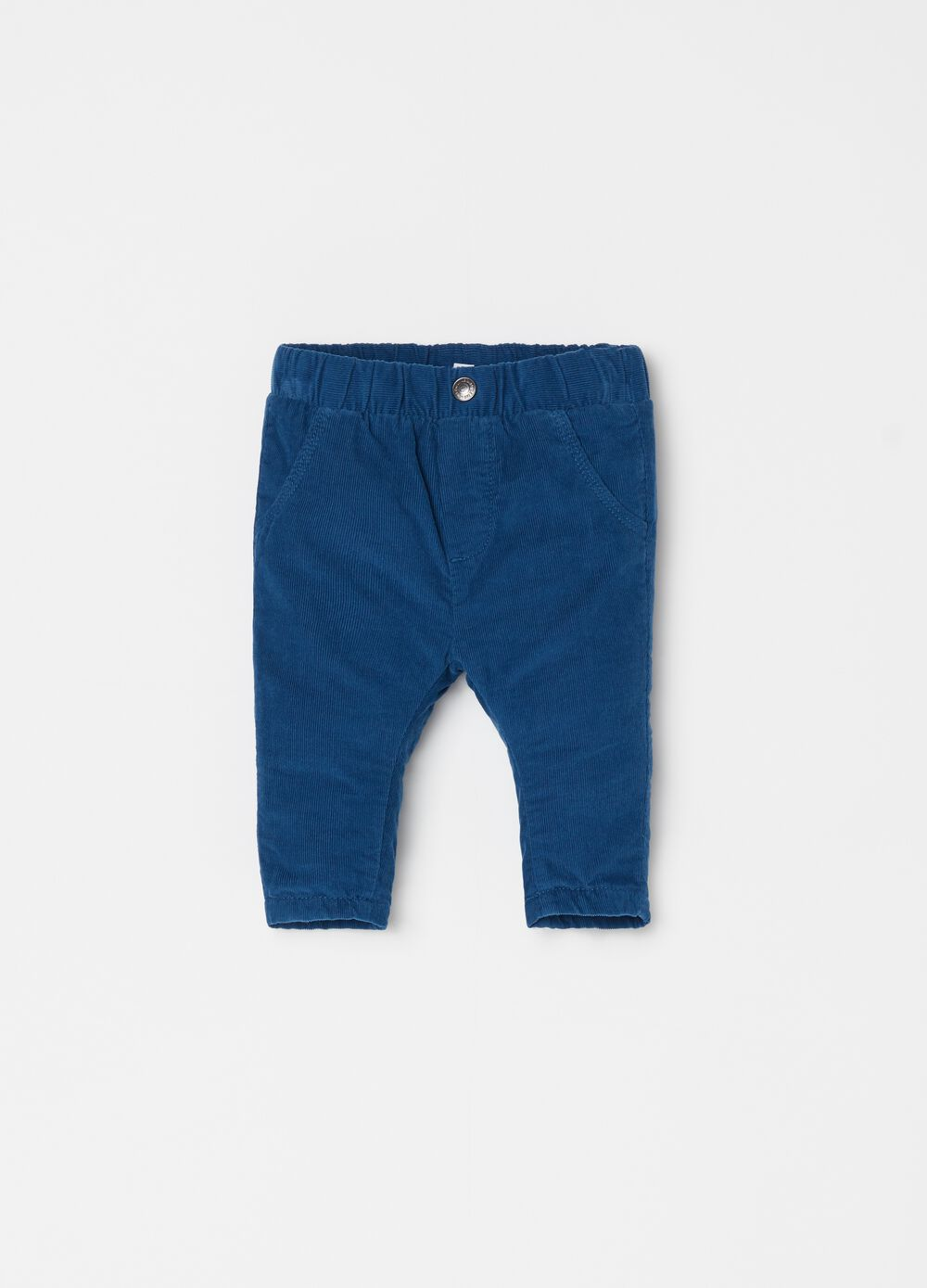 Trousers in 100% cotton velvet