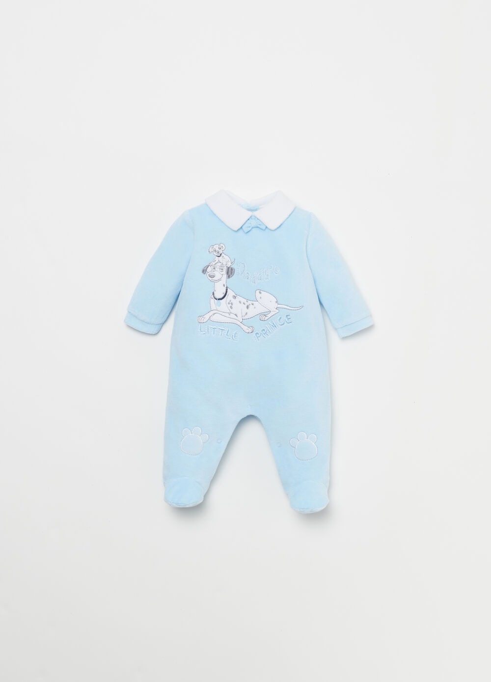 Onesie with 101 Dalmatians velour patch