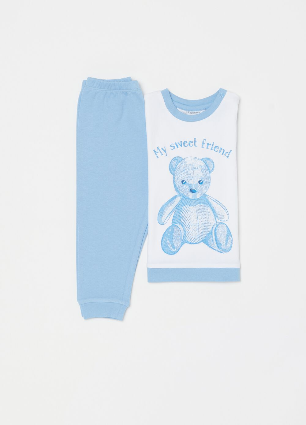 Pyjamas with bear print