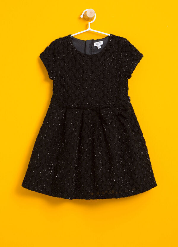 Glitter diamond dress with bow | OVS
