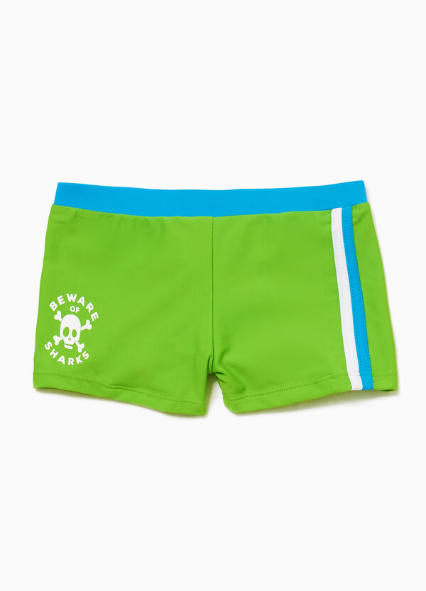 Stretch printed swim boxer shorts