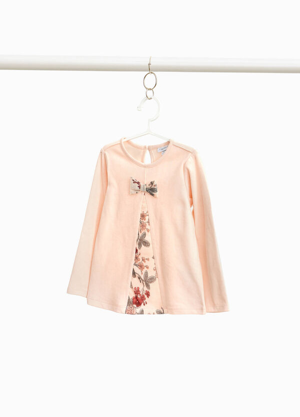 Faux-layered floral T-shirt