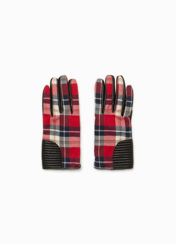 Checked gloves with inserts