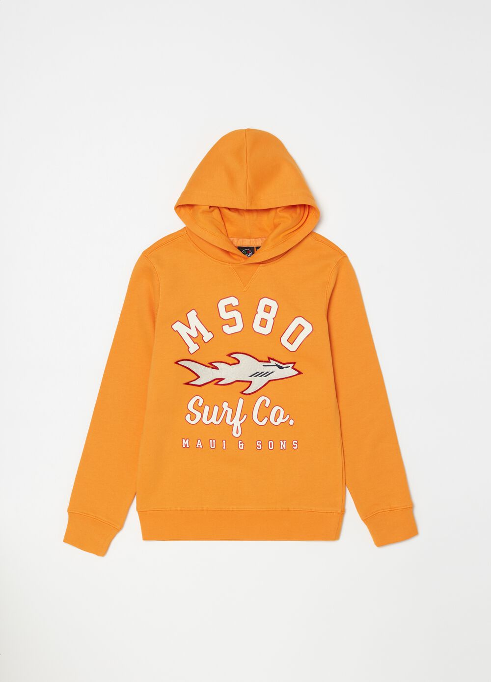 Sweatshirt with round neck and hood by Maui & Sons