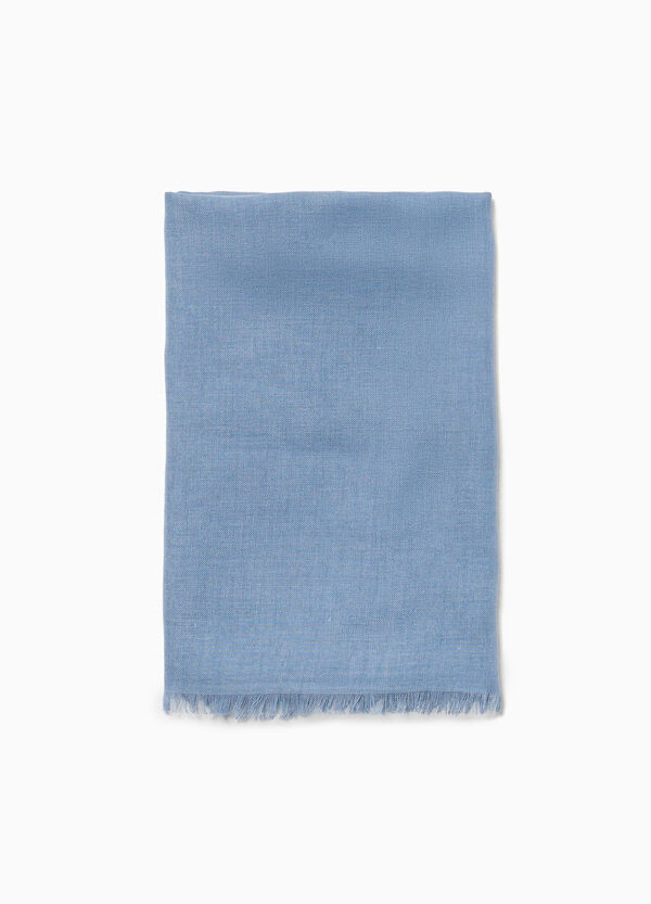 Pashmina with fringed edges