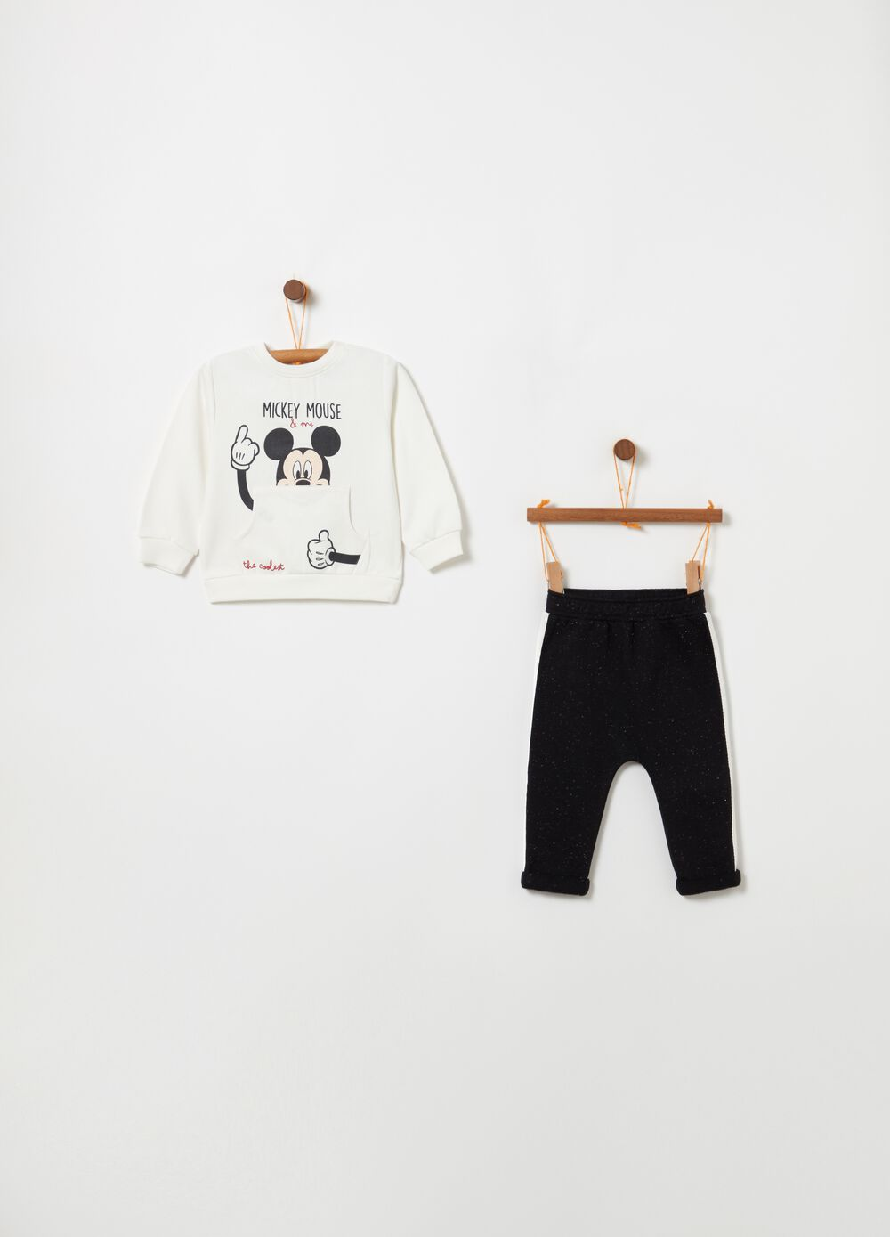 Jogging set with Disney Mickey Mouse print
