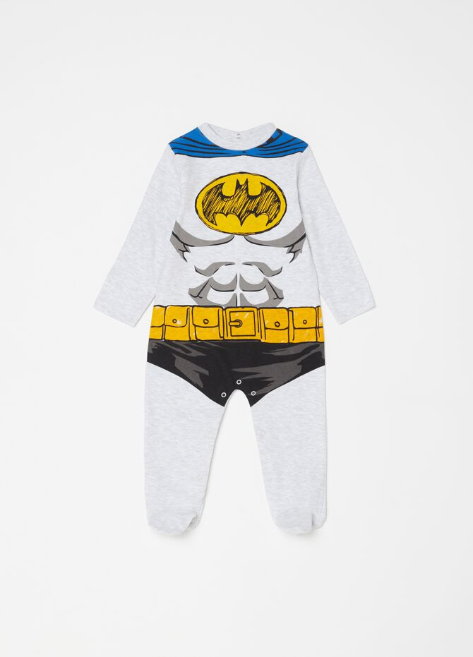 Onesie with feet and Batman pattern [DC COMICS]