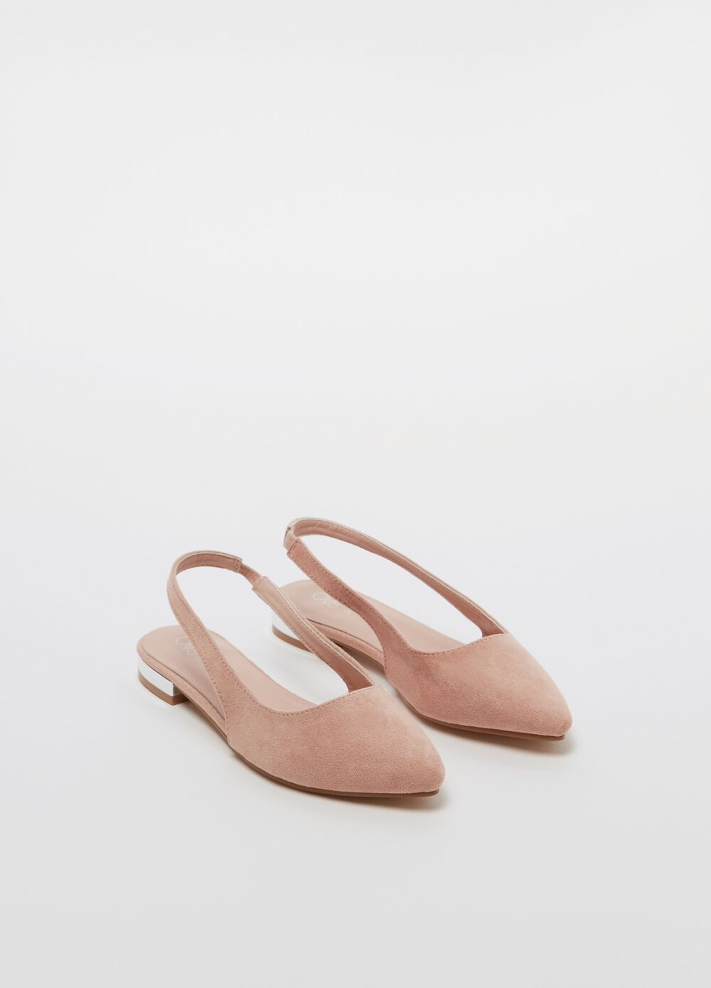 Slingback with flat heel