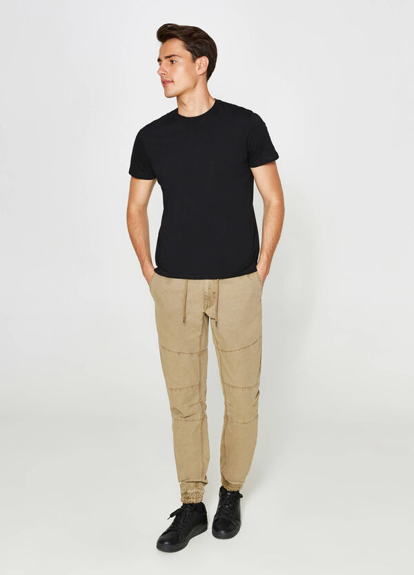Regular-fit cotton jogger trousers | OVS