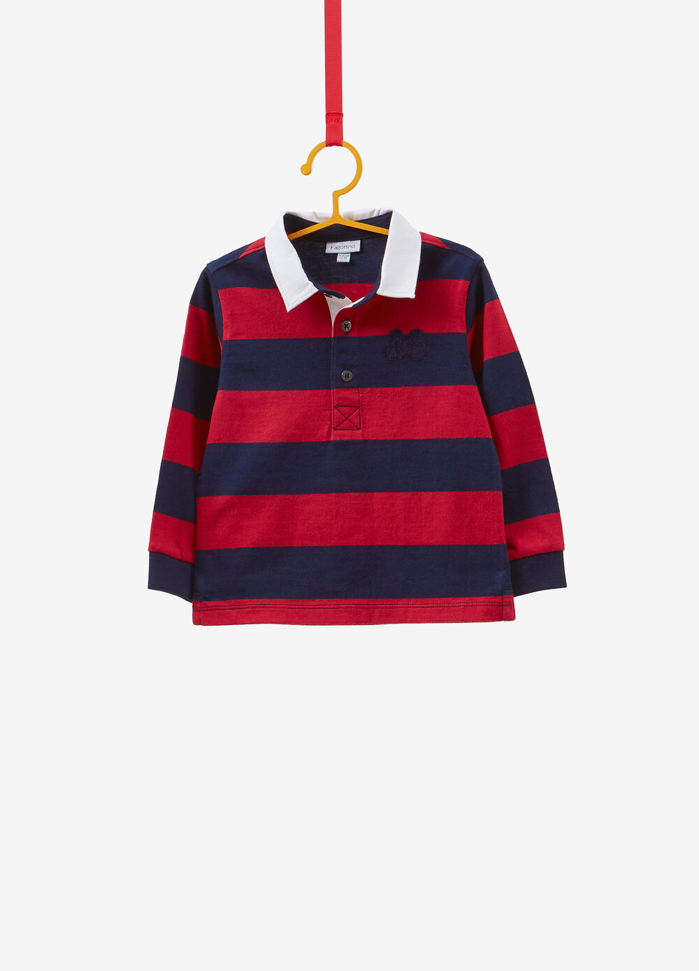 Striped pattern polo shirt in 100% cotton