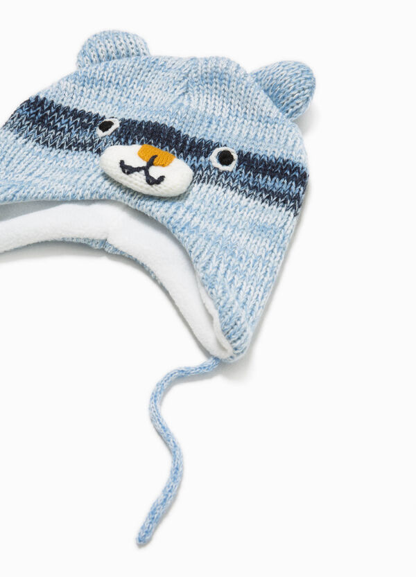 Knitted beanie cap with ear flaps | OVS