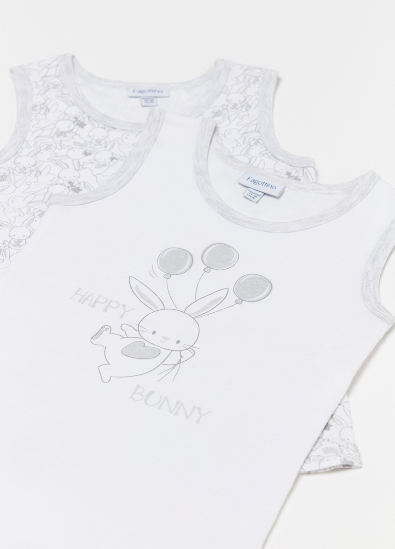 Two-pack vests with rabbits image number null
