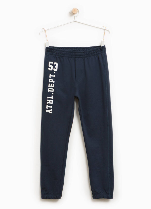 Cotton joggers with printed lettering | OVS
