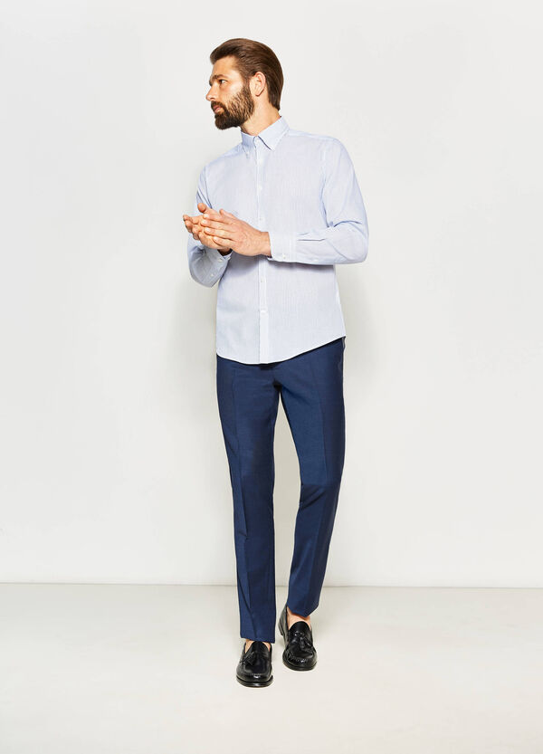 Striped slim-fit formal shirt | OVS