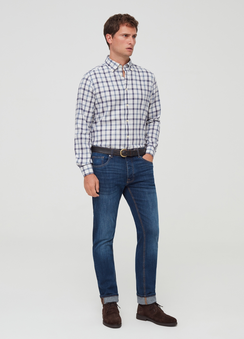 PIOMBO shirt with button-down collar image number null