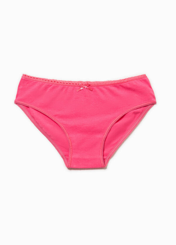 Cotton briefs with bow