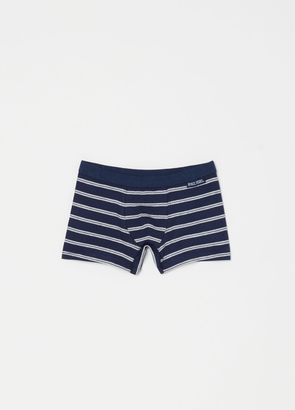 Stretch boxers with stripes