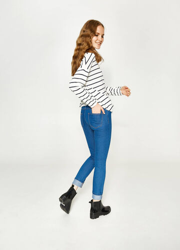Solid colour, slim-fit stretch jeans