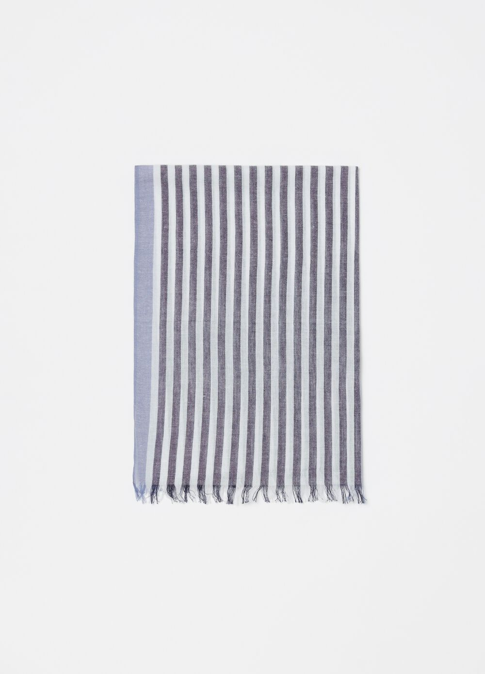 Striped pashmina in 100% cotton