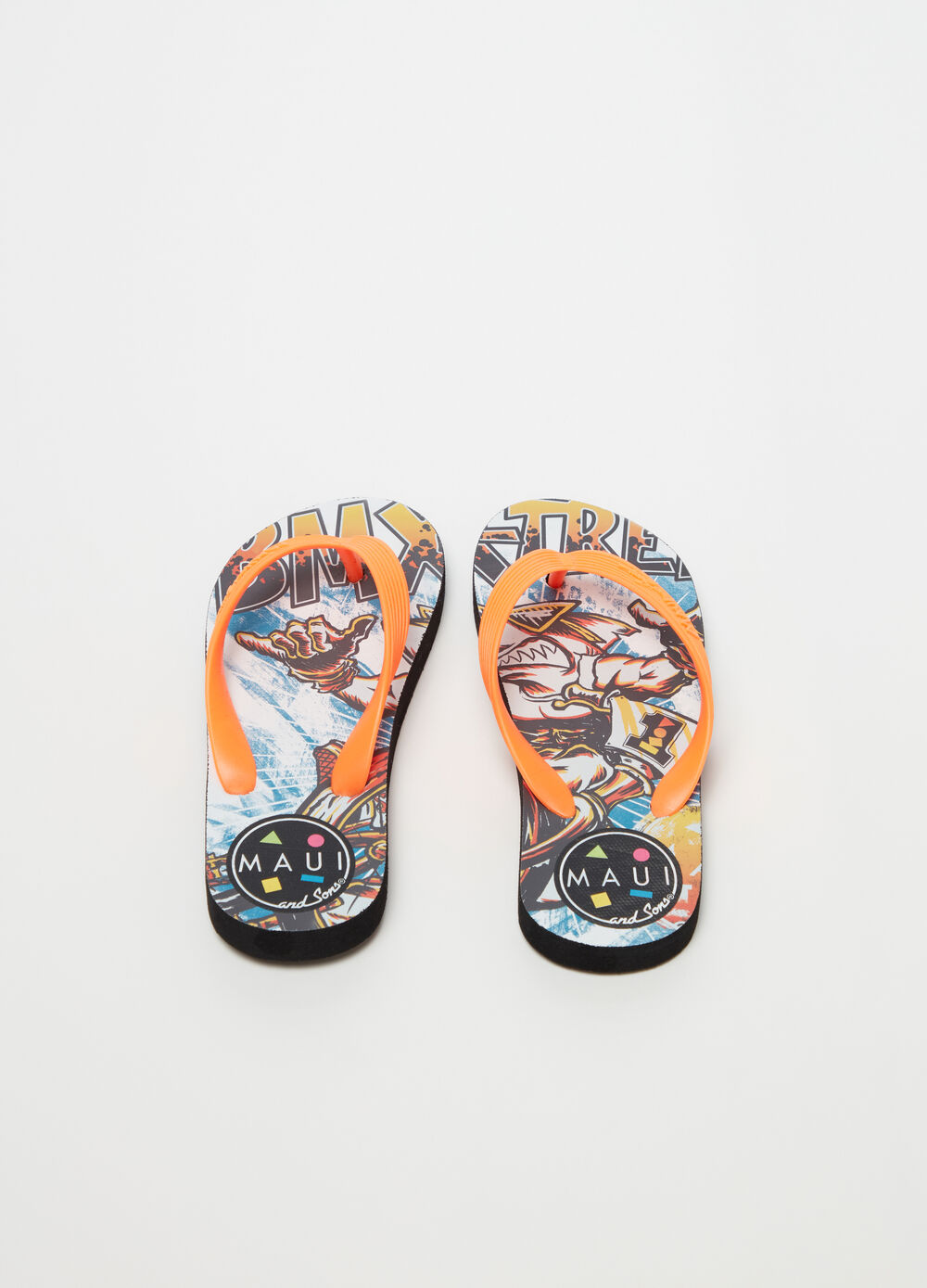 Patterned thong sandals by Maui and Sons