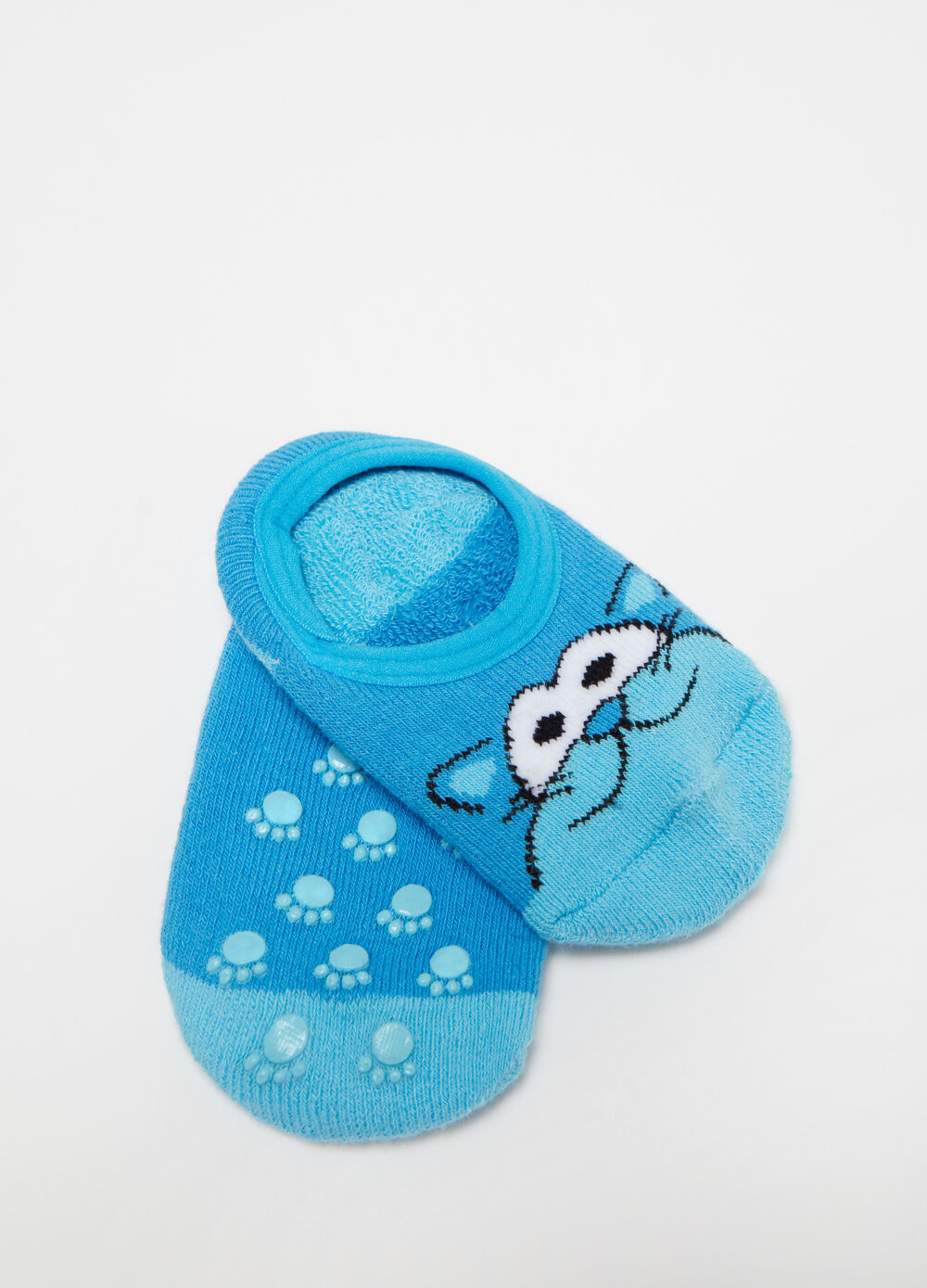 Short stretch socks with kitten embroidery