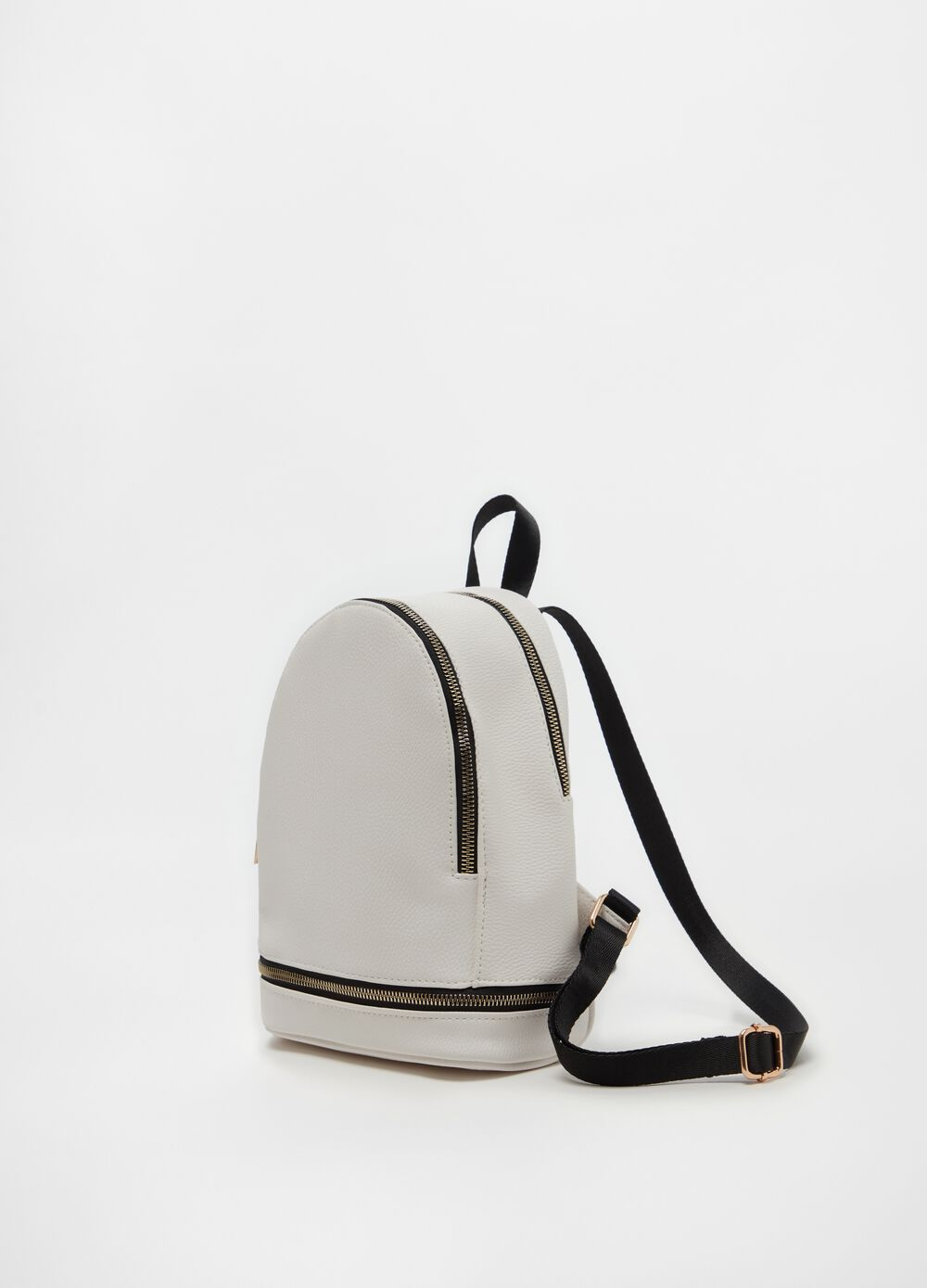 Solid colour backpack with zip
