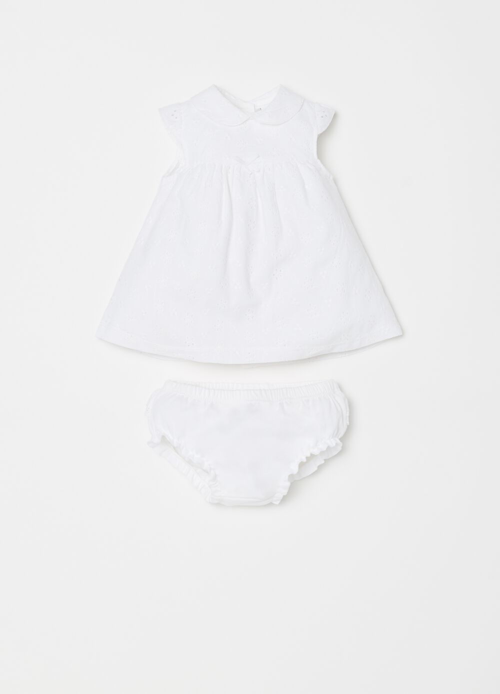 Solid colour cotton briefs and dress set