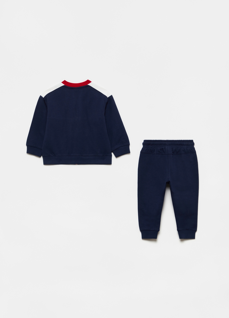 Jogging set with full-zip sweatshirt and trousers in cotton image number null