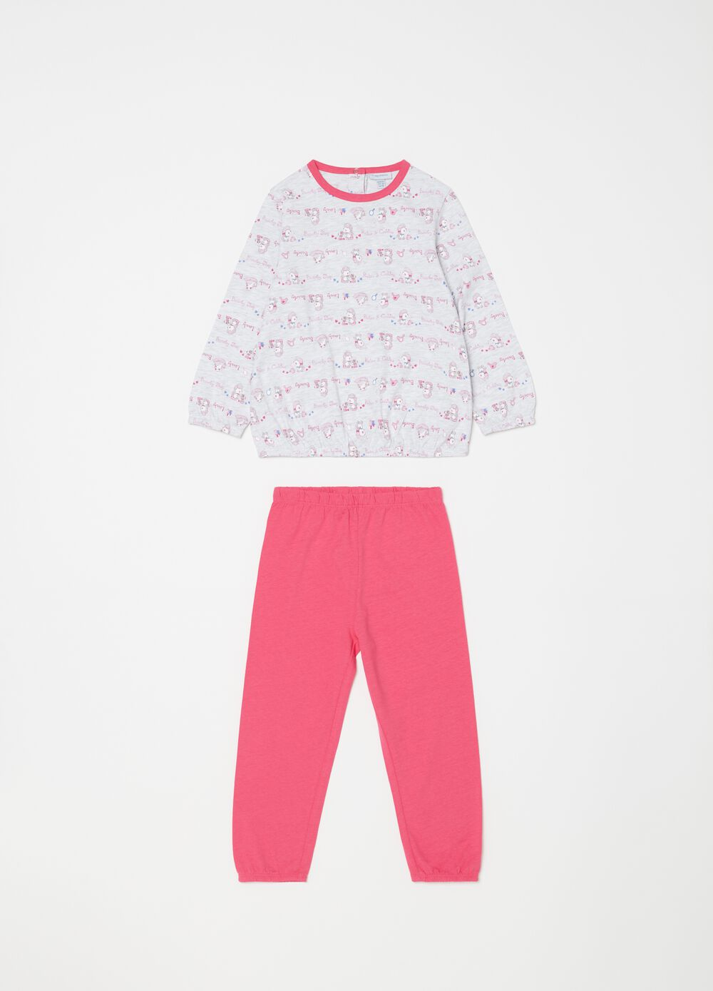 Biocotton pyjamas with sheep pattern