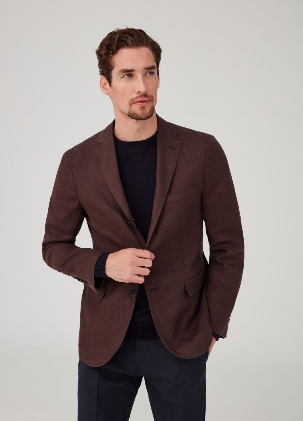 Rumford blazer with lapels and welt pockets