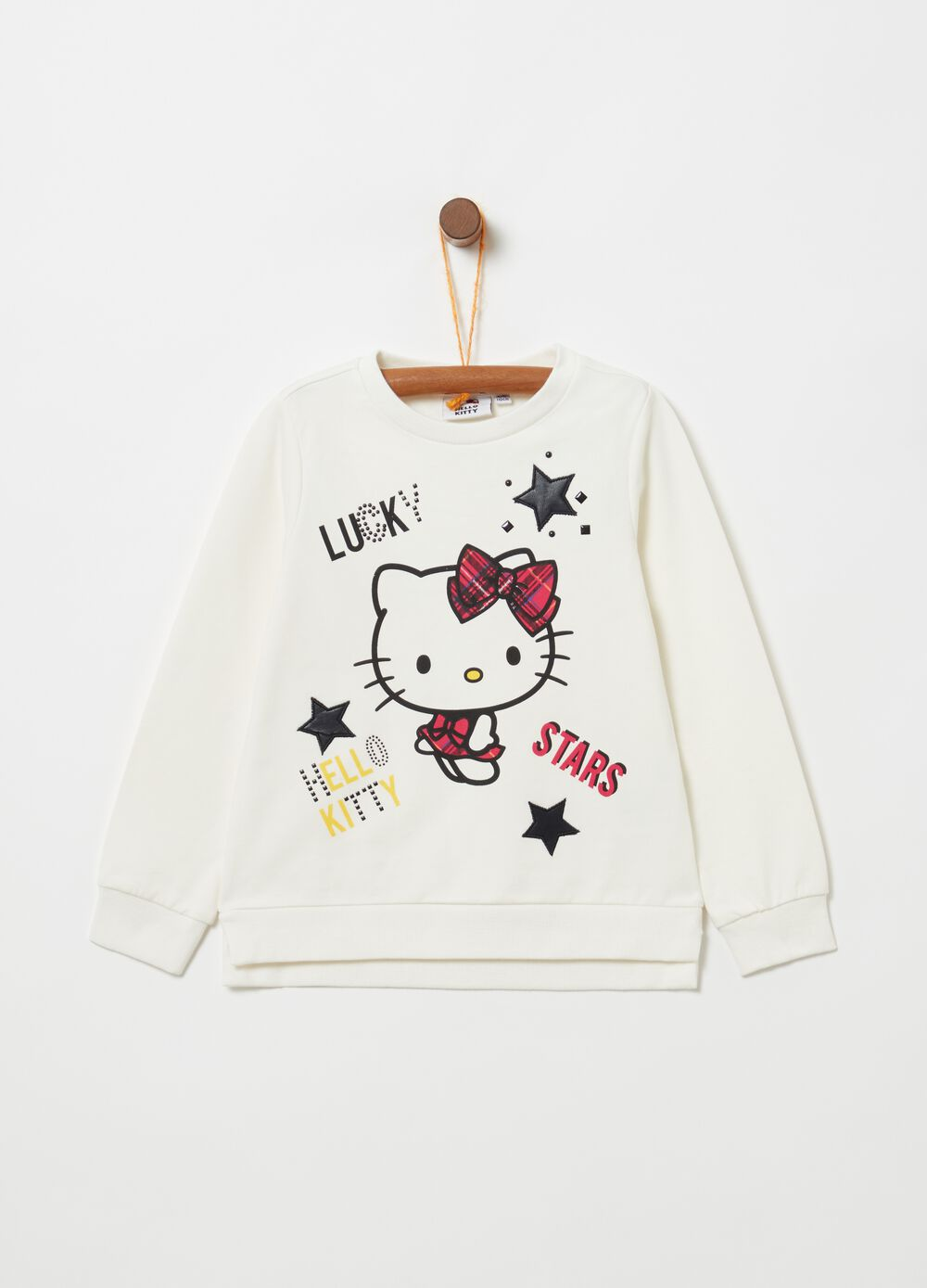 Stretch cotton sweatshirt with Hello Kitty print