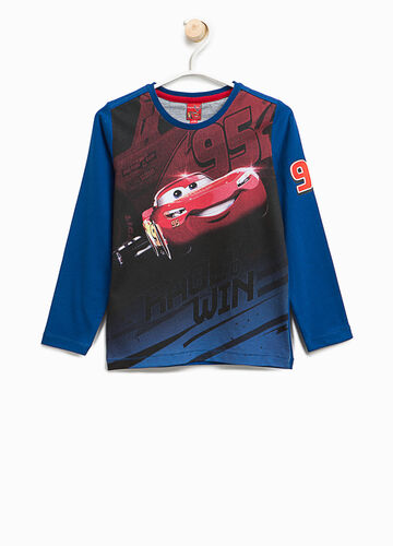 T-shirt con maxi stampa Cars