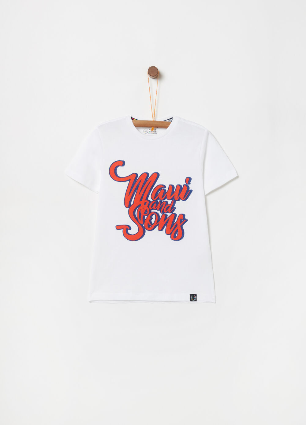 100% cotton T-shirt with Maui and Sons print