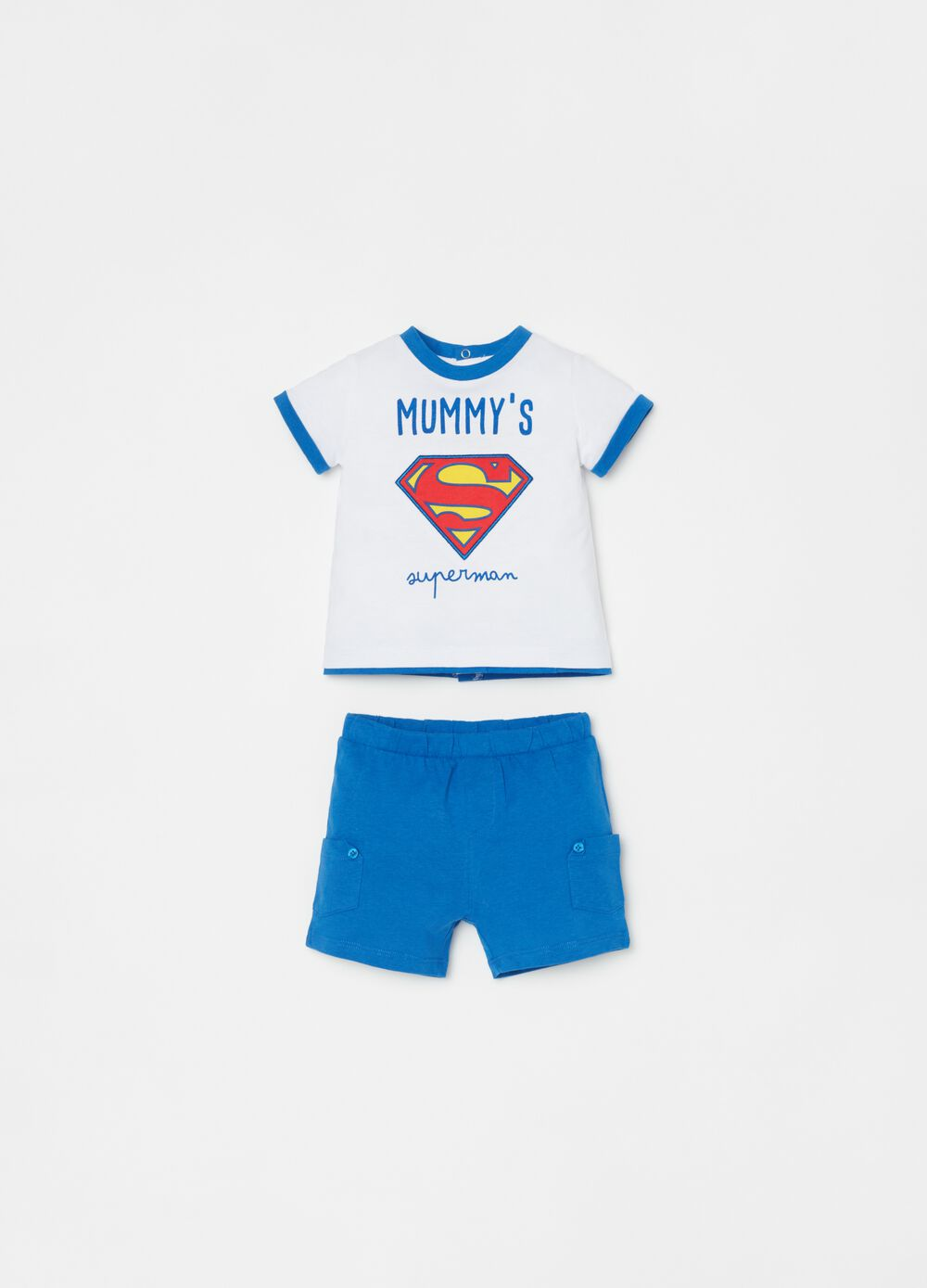 T-shirt and shorts set with Superman print