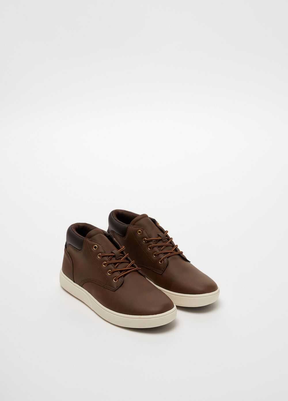 Suede-effect boots