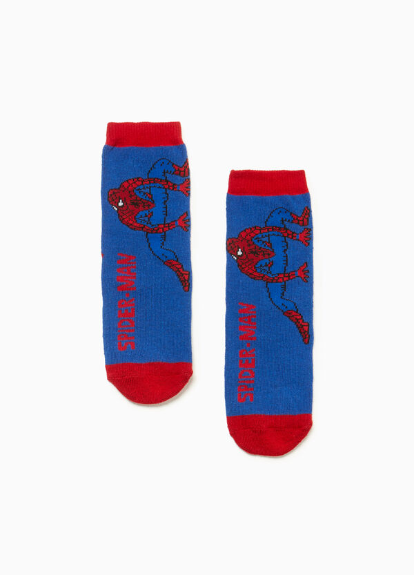 Slipper socks with Spiderman motif embroidery