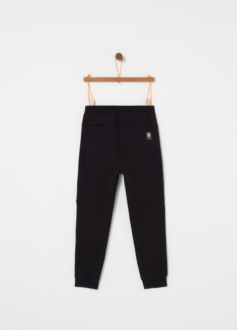 Stretch jogger trousers with 3D print image number null
