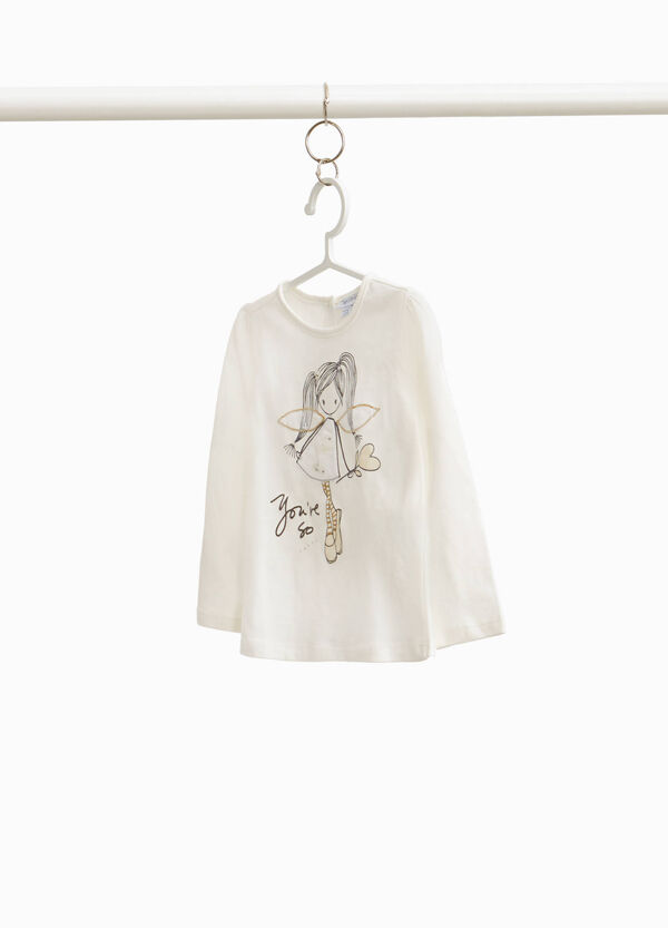 100% cotton T-shirt with fairy print