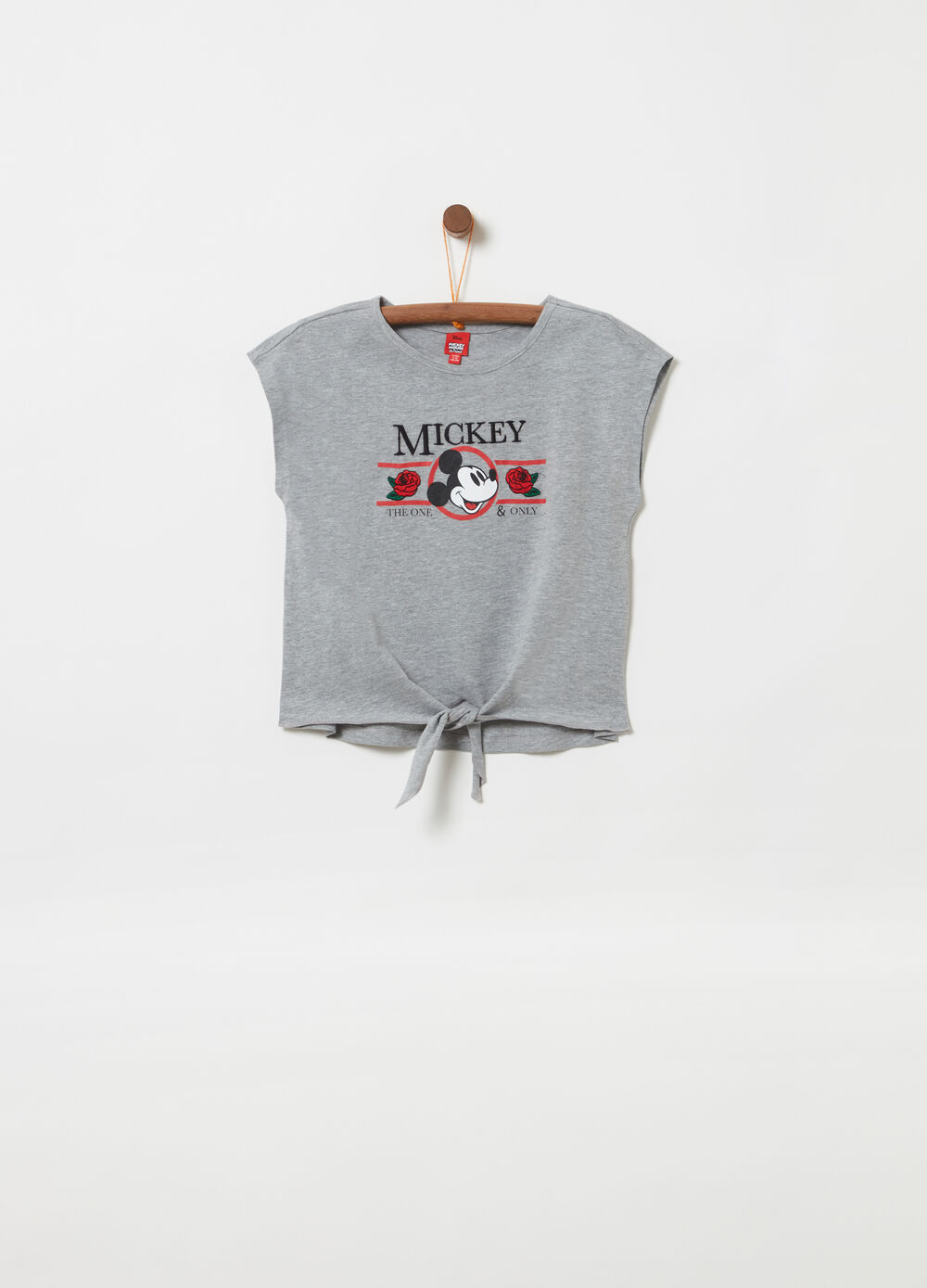 T-shirt with Disney Mickey Mouse print and embroidery