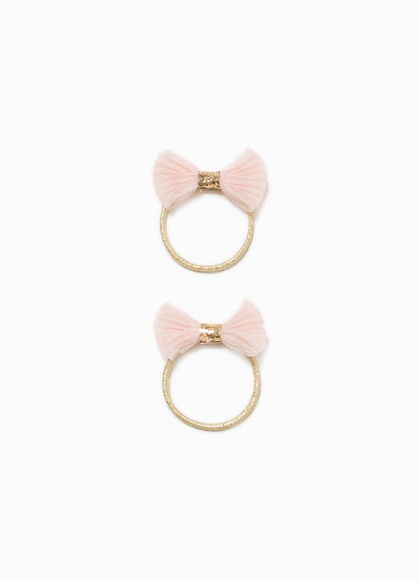 Two-pack hair elastics with bow | OVS