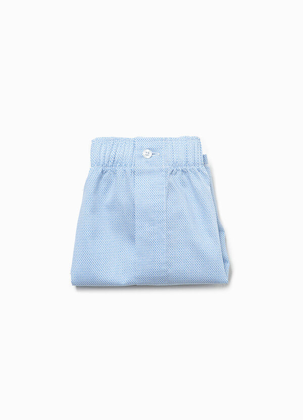 Solid colour cotton boxer shorts