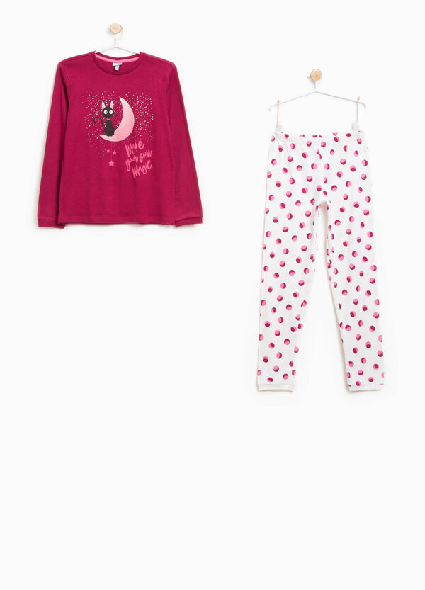 Organic cotton pyjamas with print | OVS